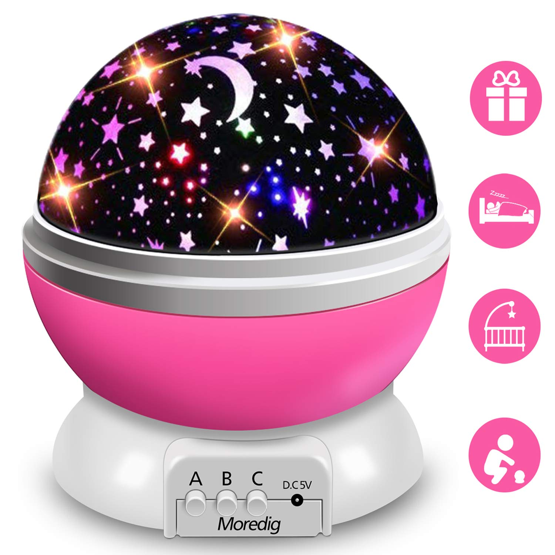 Moredig - lampada stelle proiettore, 360 Gradi