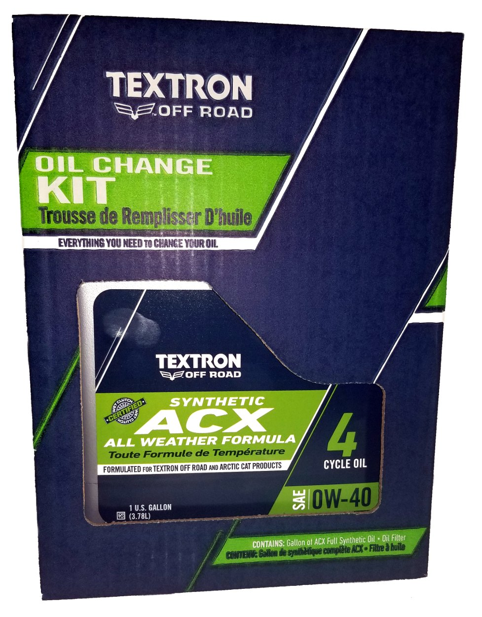 Textron (Arctic cat) ACX Oil Change Kit - 0W-40 - 2436-681