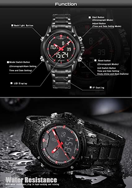 Amazon.com: Relojes de Hombre Stainless Steel Waterproof Business Watch For Men RE0049: Watches