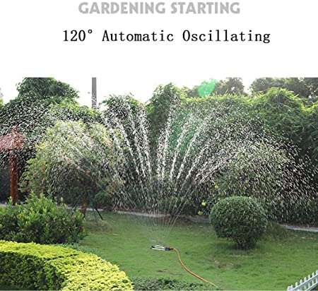 Aspersor Cuadrado Aspersor oscilante Aspersores De Riego Automatico,18 Agujeros con boquillas de Acero Inoxidable,Aspersor Flexible para Jardín: Amazon.es: Hogar