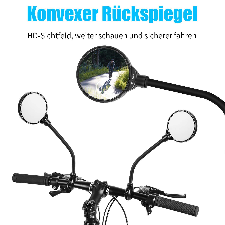 Fahrrad Spiegel Rückspiegel HD Spiegel Lenkerspiegel Fahrrad Sicherheit Radsport