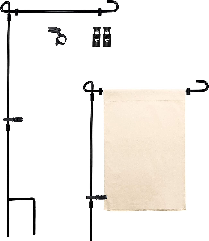 Naive Argo Premium 12.5x18 Garden Flag Stand | Yard Metal Flag Pole Holder | Without Flag