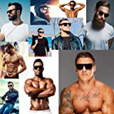 MMA Post Fight Interview Sunglasses Limo Tint Super Dark Lens Mens Large Black Thick Guard