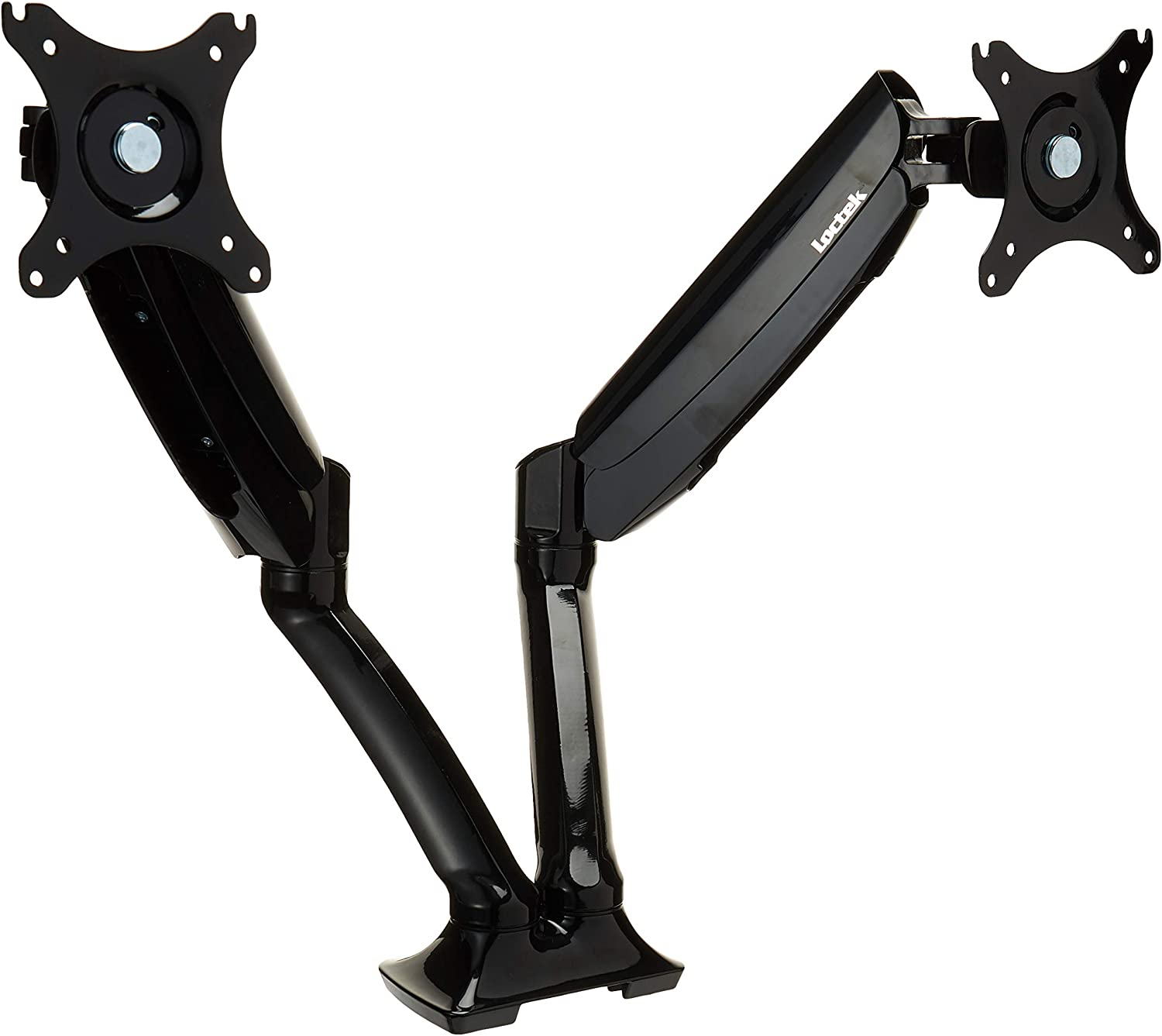 Loctek Monitor Mount Desk top Vesa LCD Arm Swivel Heavy Duty for Most of 10-27 inches Curved Panel LED-Lit Computer Screen (Dual Arm D5DH)