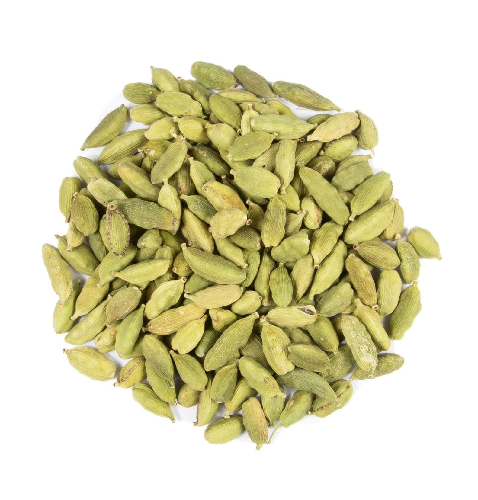 Green Cardamom Pods : Dried Indian Spice : Kosher (1.5oz.)