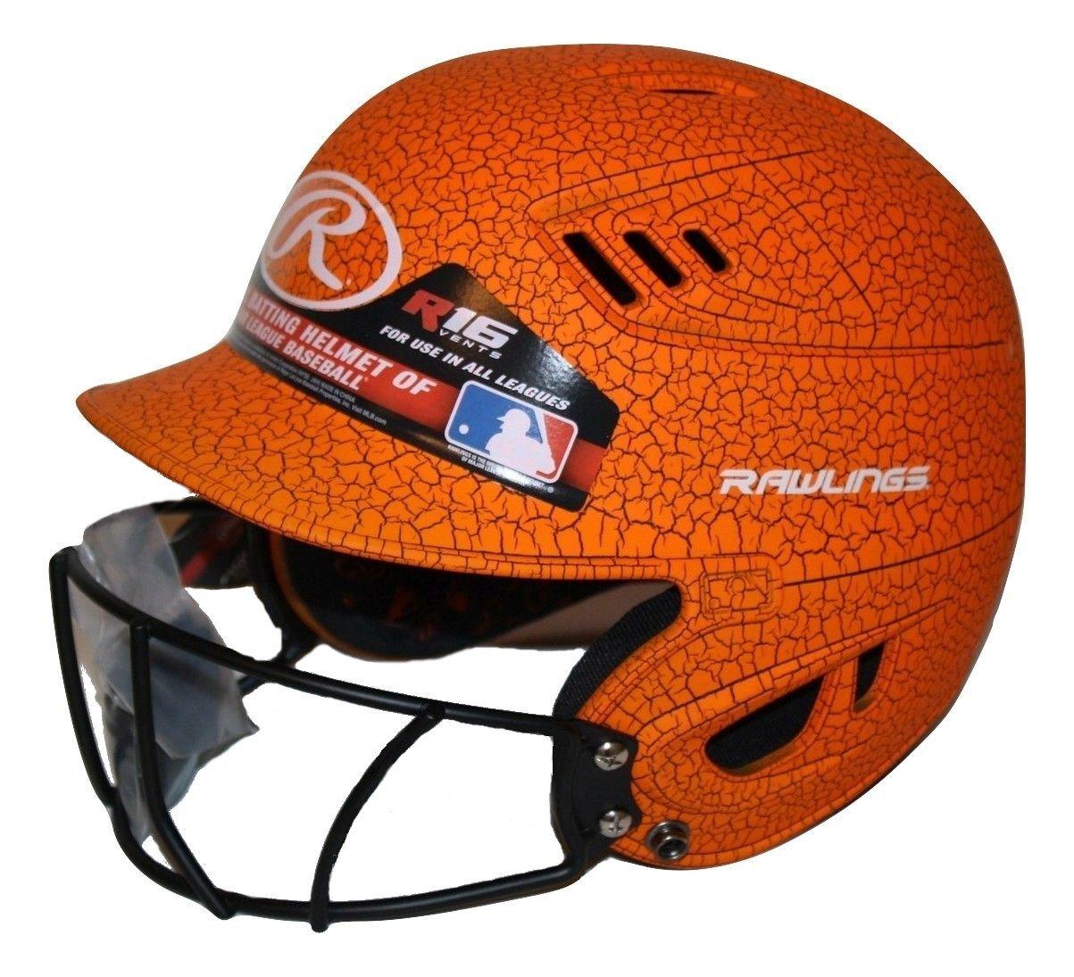 Rawlings Velo Junior R16 Series Crackle Batting Helmet with Face Mask Junior)