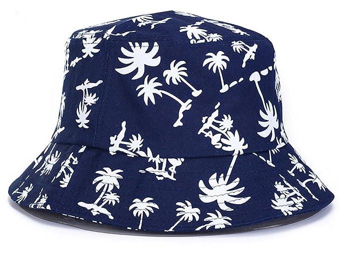 Roffatide Árbol de Coco Impresión Algodón Sombreros de Pesca Summer Al Aire  Libre Gorra de Sol para Mujer Hombre Azul Marino  Amazon.es  Ropa y  accesorios 518611484e2