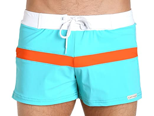 6280eb0216654 Image Unavailable. Image not available for. Color: Sauvage Sporty Style Swim  Trunks ...