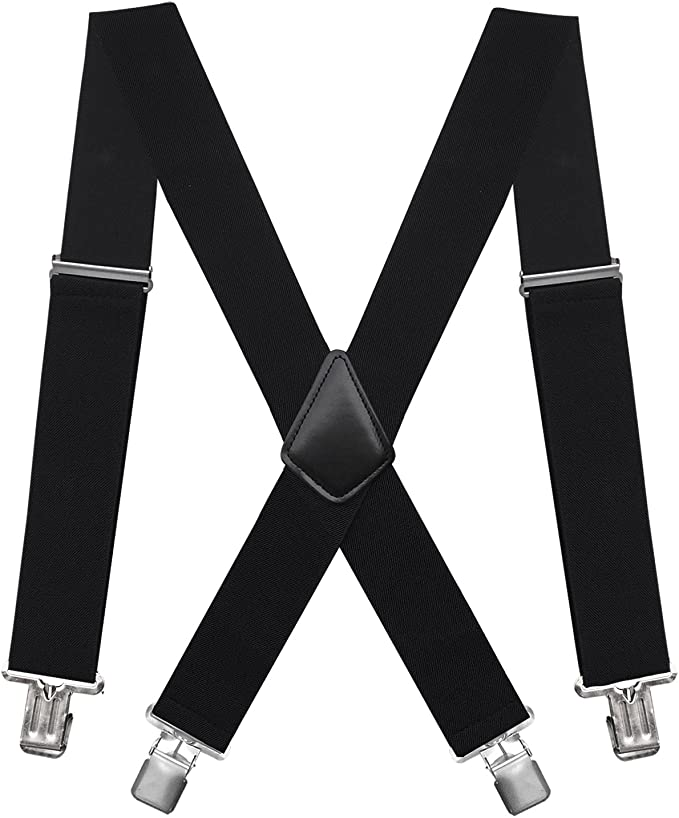 black X-back suspender