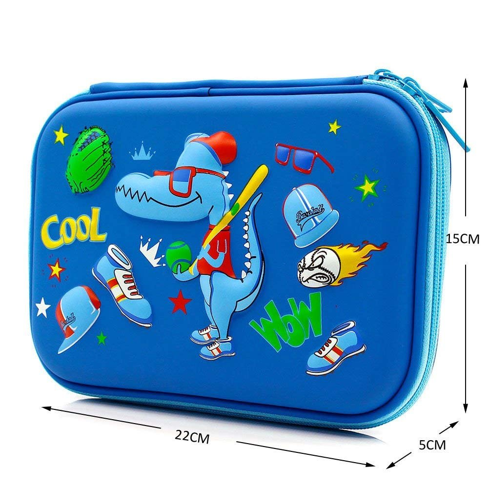 Pencil Case Big Capacity Cute Pencil Bag with Zipper School Supplies Durable Students Stationery for Kids 9''x6''x1.9''