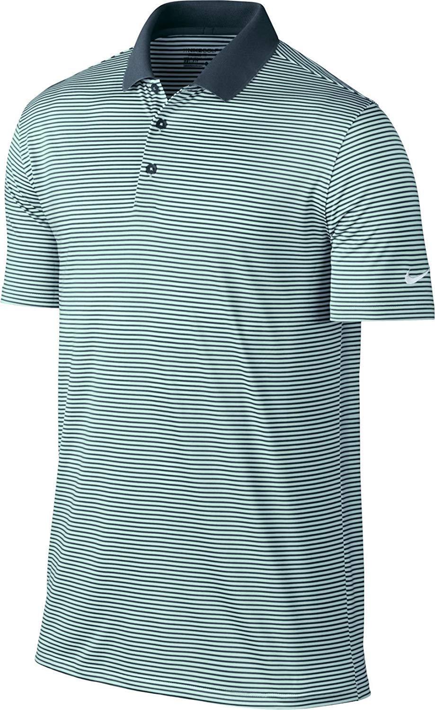 Nike Men's Dry Victory Mini-Stripe Golf Polo (Armory Navy/Igloo/White, Small)