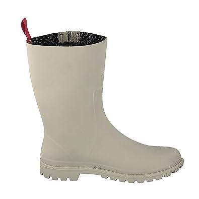 GOSCH SHOES Damen Schuhe Stiefel Gummistiefel Reißverschluss 7108-340 in 3 Farben (37, Hellgrün)