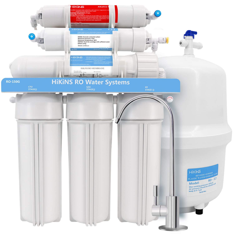 HIKINS Cartouche filtrante alcaline de remplacement PH 1 avec bille min/éralis/ée et calcite pour syst/ème de filtration deau par osmose inverse paq