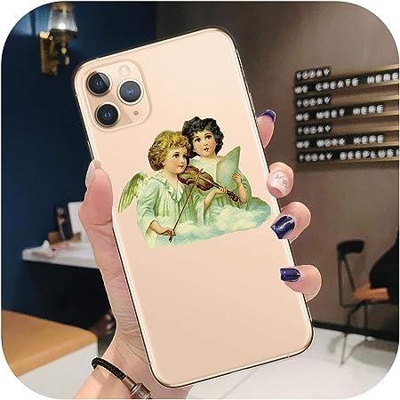 Cover per iPhone XR XS Max 11 Pro Max Fiore Ragazzo Cupido chiaro ...