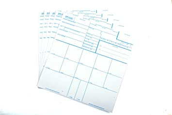 Fingerprint Cards, Applicant FD-258, 100 Pack
