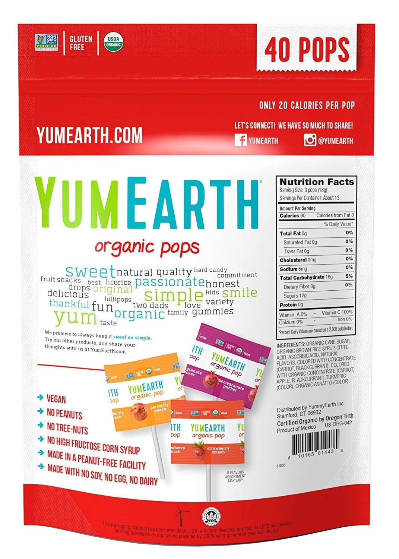 YumEarth YummyEarth - YumEarth Organic Lollipops, 8.5 Ounce Bag  (Pack of 2) by YUMMY EARTH
