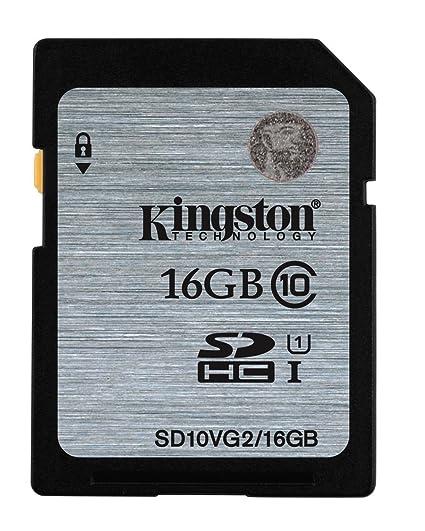 Kingston 16 GB tarjeta de memoria SD SDHC Clase 10 para Cámara ...