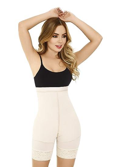 72420cd8a Fajas Moldeadora Colombianas Bodysuit Levanta Cola Buttock Lift Body Shaper  Powernet Postpartum Girdle Shapewear at Amazon Women s Clothing store