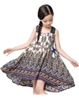 Childdkivy Baby Girls Summer Dress Bohemian Fashion Clothes