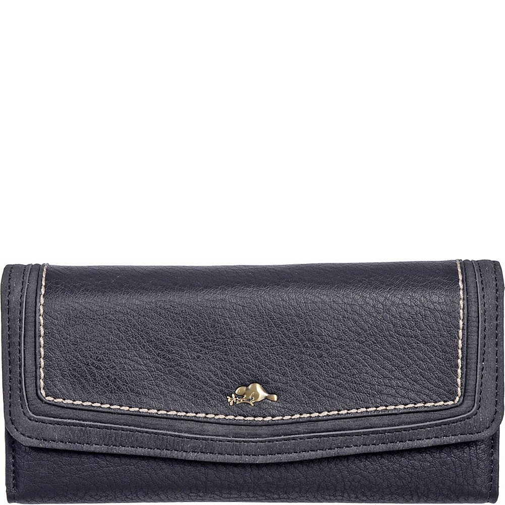 Roots Women's Cliff Collection Slim Trifold Clutch (Black) Roots 73 CBMC_RT28071_S10_BLK