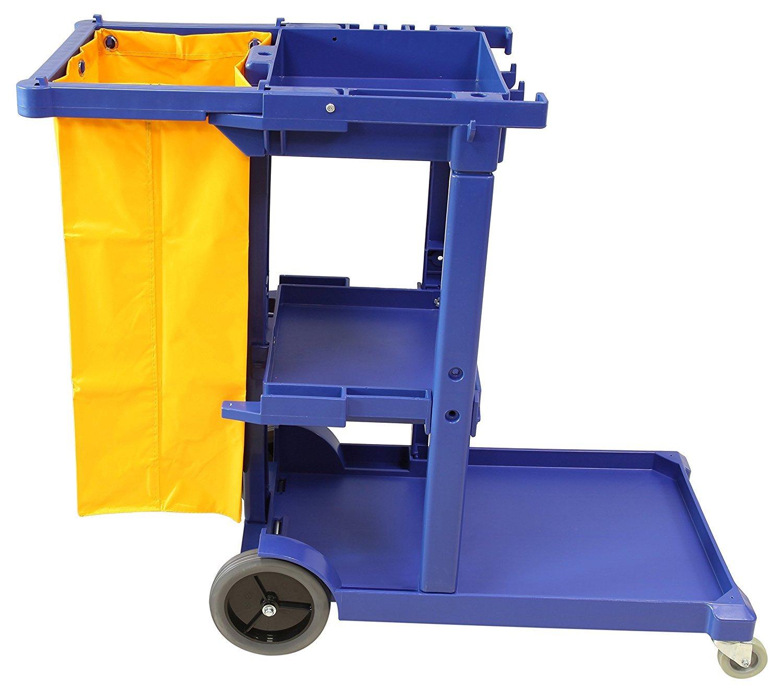 Carro de limpieza multifunci/ón azul con bolsa