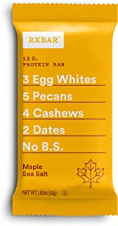 product image for RXBAR, Maple Sea Salt, Protein Bar, 1.83 Ounce (Pack of 24), High Protein Snack, Gluten Free