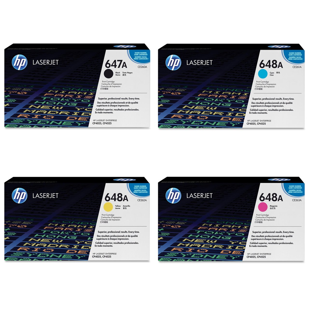 Amazon.com: HP Genuine Hp Ce260A, Ce261A, Ce262A, Ce263A Toner Set ...