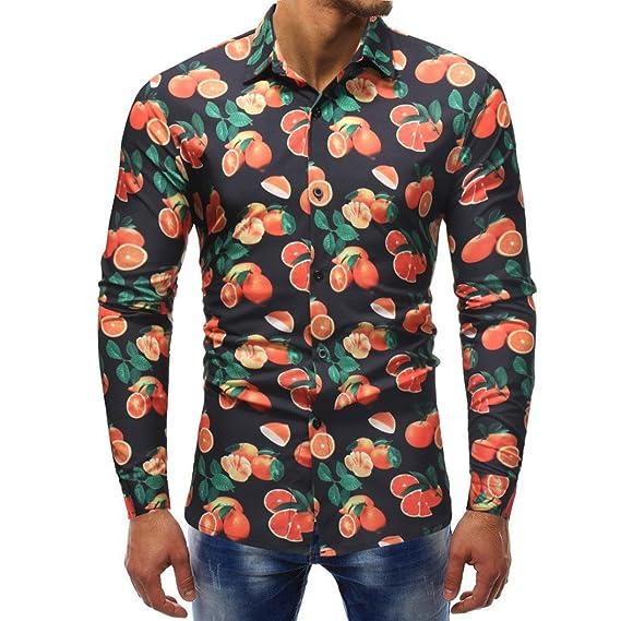 Camisas Hawaianas Hombre, Hombre Moda Impresa Blusa Casual Camisas de Manga Larga Delgada Tops: Amazon.es: Ropa y accesorios
