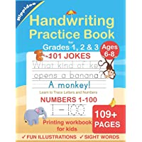 Handwriting Practice Book for Kids Ages 6-8: Printing workbook for Grades 1, 2 & 3, Learn to Trace Alphabet Letters and…