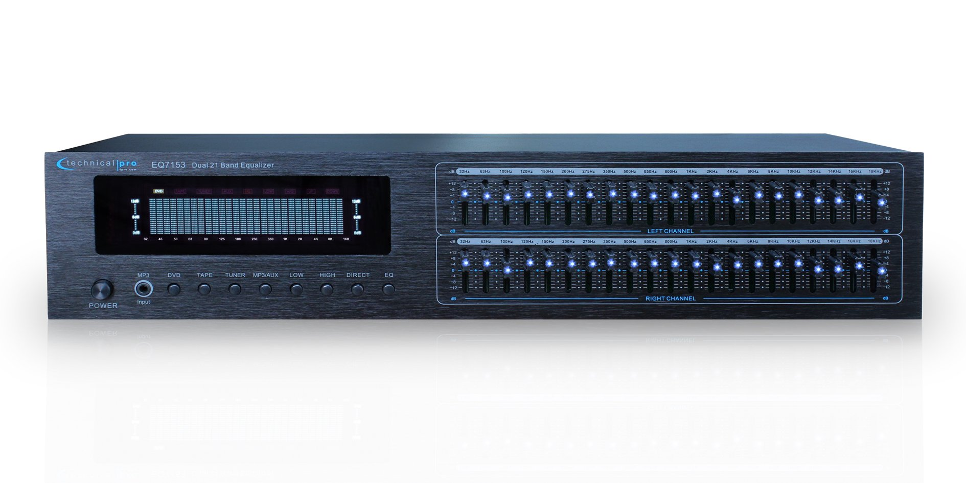Technical Pro EQ7153 Dual 21 Band Professional Equalizer
