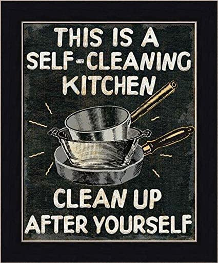 This Is A Self Cleaning Kitchen Clean Up After Yourself By Pela Studio Retro Sign Wall