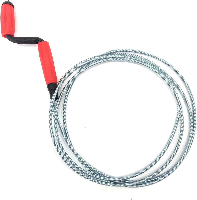 3 m Ducomi Desatascador en espiral Sonda manual para tuber/ías de ba/ño y cocina de f/ácil uso desatascador de tubos con muelle para desag/ües lavabos y duchas obstruidas e incrustadas