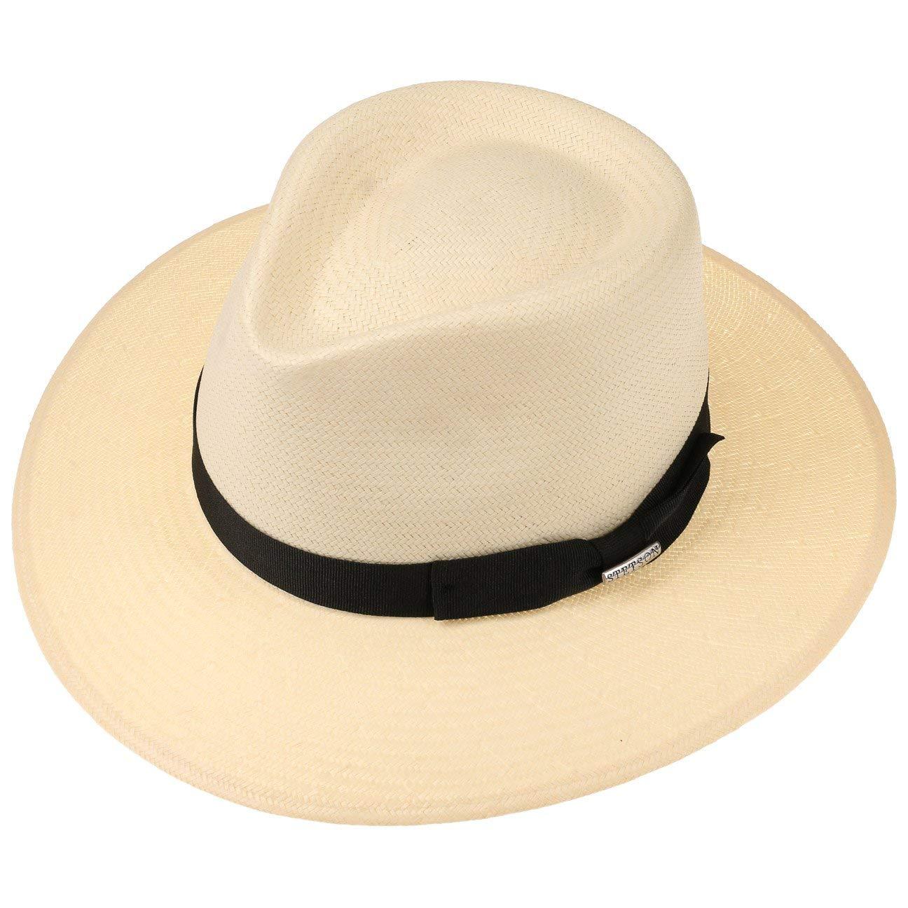 Sombrero de Paja Sol Outdoor con Banda Grosgrain Primavera//Verano Stetson Traveller Toyo Tokeen Hombre