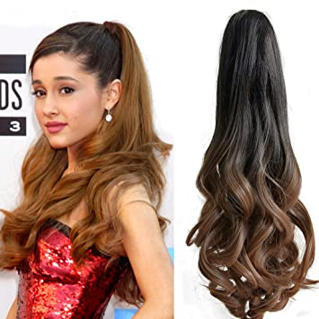 Amazon neverland beauty 2050cm ombre two tone long big neverland beauty 20quot50cm ombre two tone long big wavy claw curly ponytail pmusecretfo Choice Image