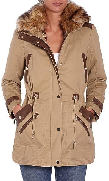 Morgan 142-Gka.N - Abrigo para mujer, color beige, talla 36: Amazon.es: Ropa y accesorios