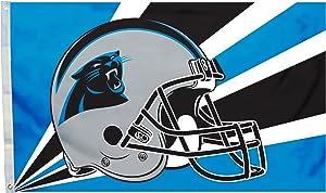 Fremont Die NFL Carolina Panthers 3' x 5' Flag with Grommets, 3 x 5-Foot, Helmet