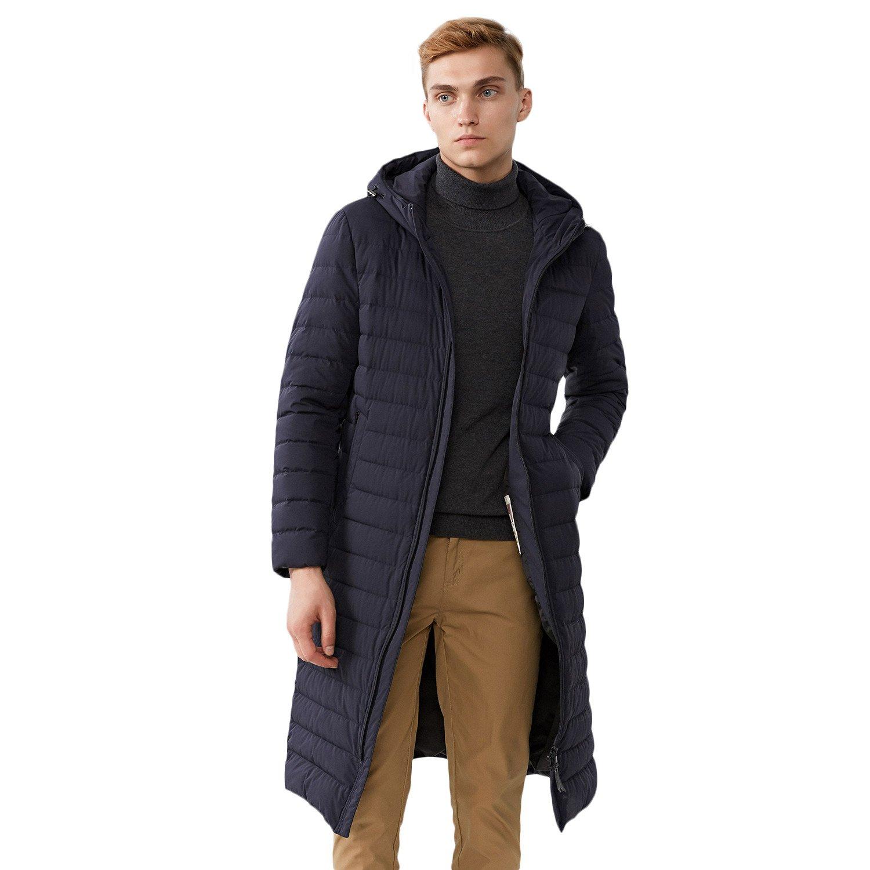 b56be4935 BOSIDENG Men's Winter Goose Down Jacket Light Warm Hooded Long Smart ...