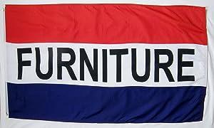 Furniture Flag 3' X 5' Deluxe Indoor Outdoor Business Sign Banner