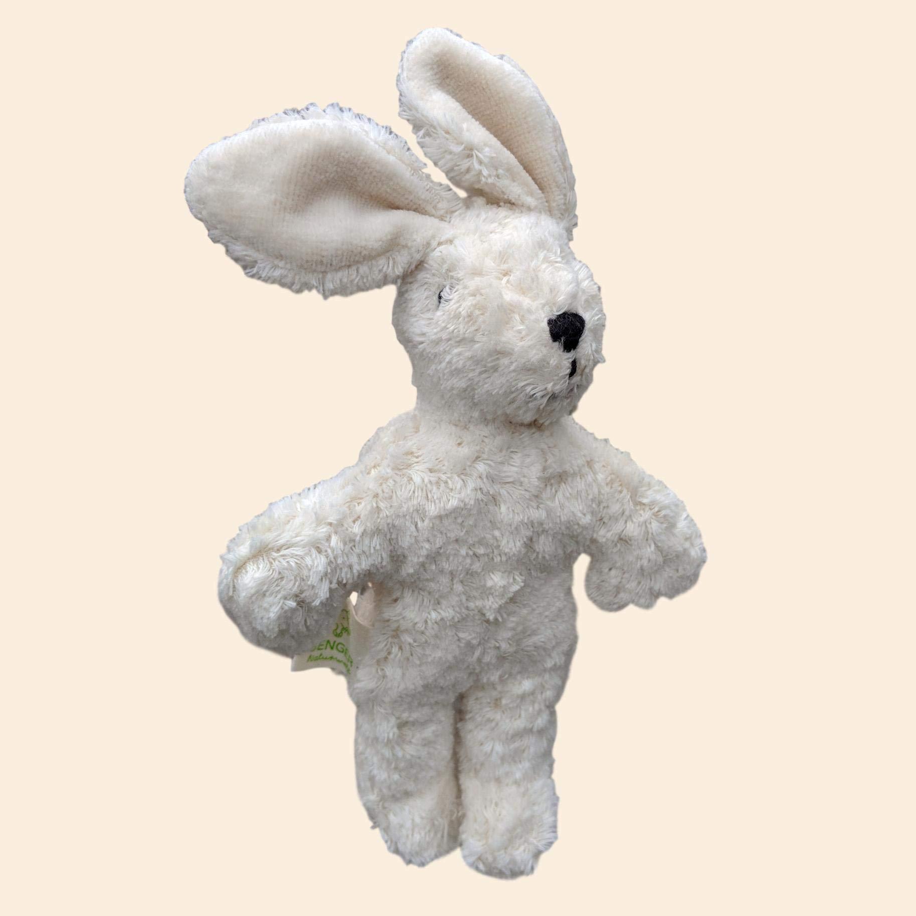 Senger Stuffed Animals - Floppy Baby Bunny Rabbit - Handmade 100% Organic Toy Large Size 9'' White by Senger