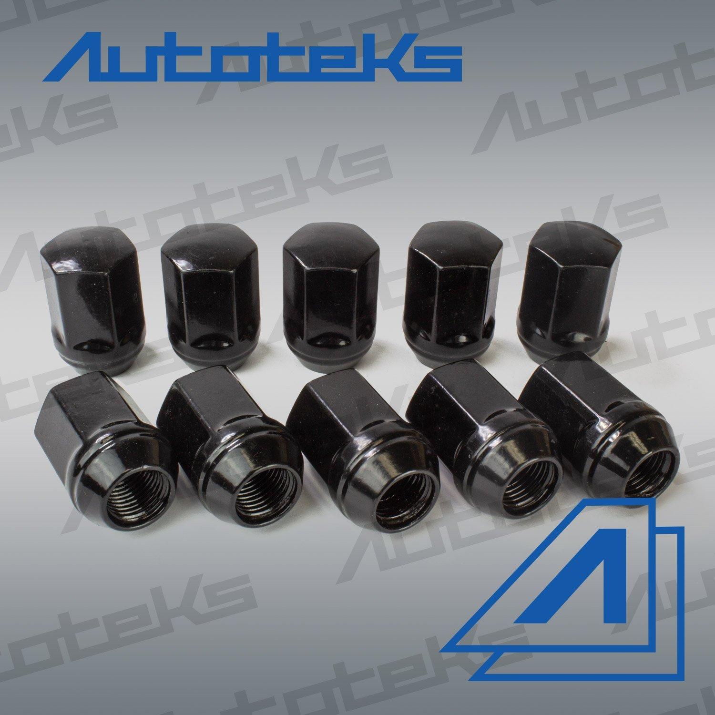 20 Pc 9/16'' Black OEM Style Factory Lug Nuts   Works with 2002-2011 Dodge Ram 1500 Dakota & Durango Factory Wheels by Autoteks (Image #5)