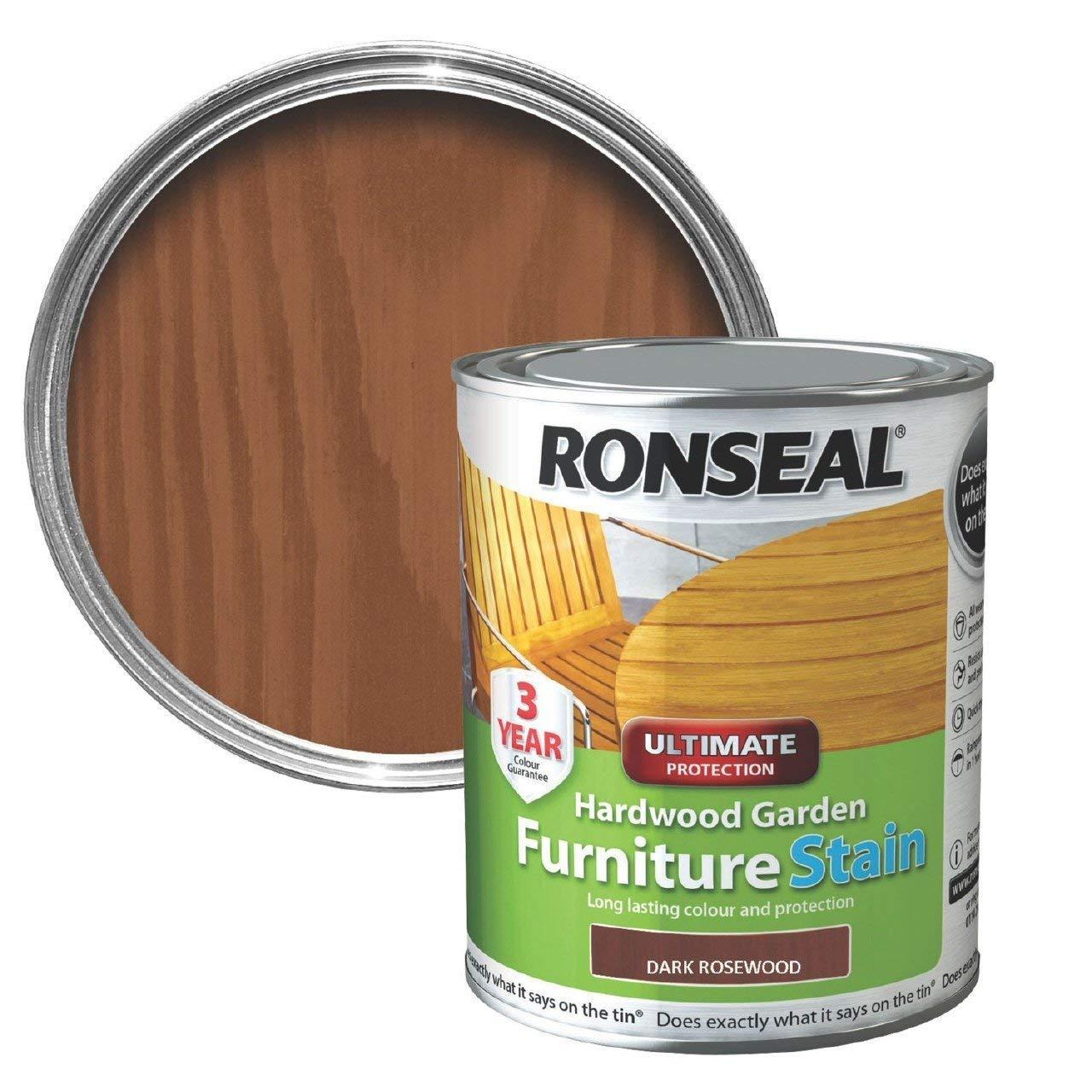 Ronseal hwfsrw750 hardwood furniture stain rosewood 750ml amazon co uk diy tools