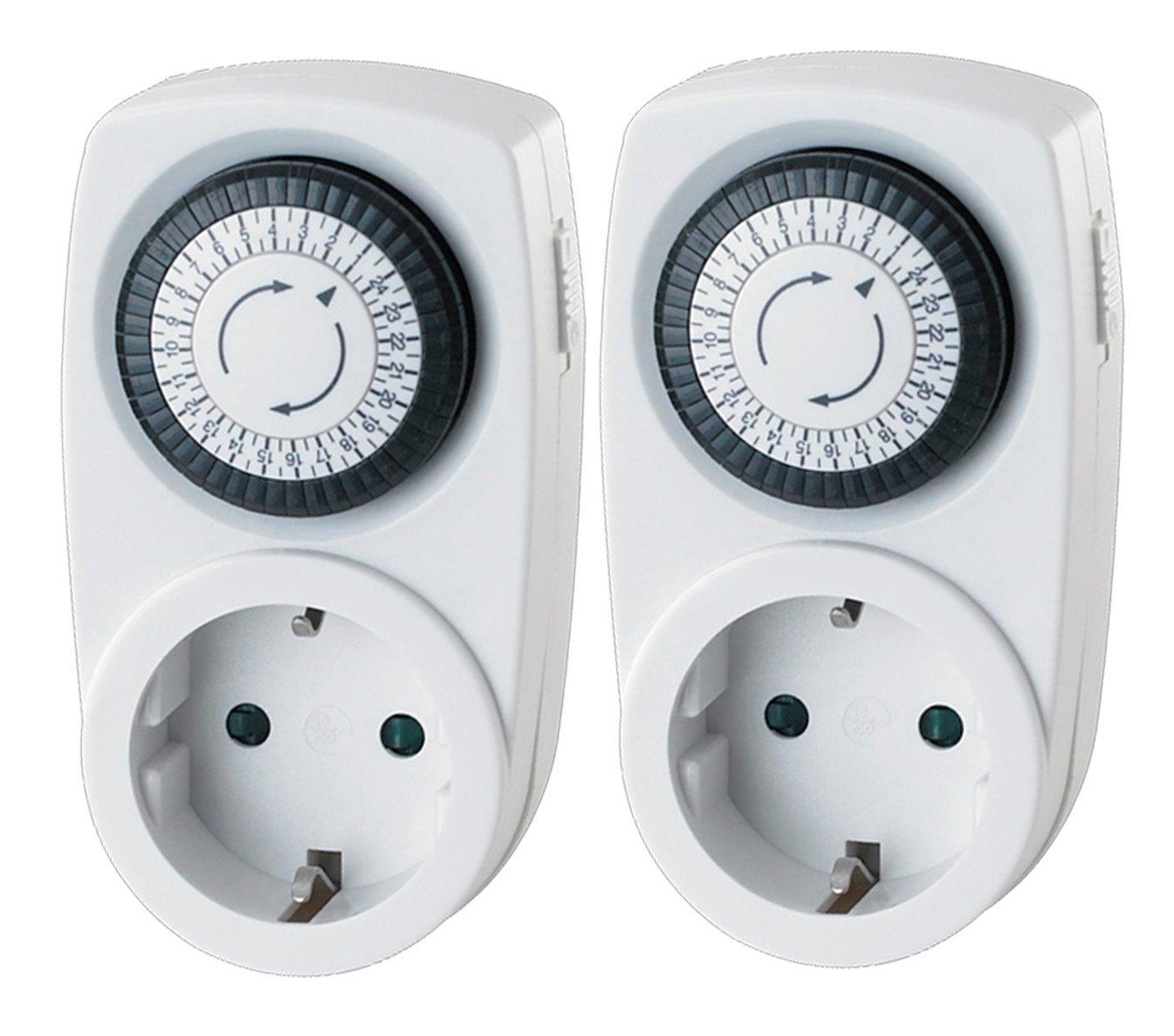 Garza 400604 Temporizador Analógico Mini, Blanco (Set De 2) : Amazon.es: Bricolaje y herramientas