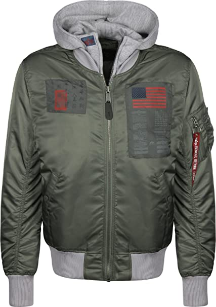 be1bc68610f6d Alpha Industries MA-1 D-Tec Blood Chit Chaqueta Bomber  Amazon.es  Ropa y  accesorios