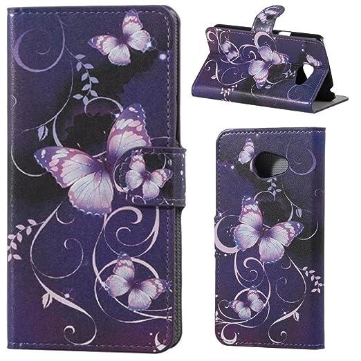3 opinioni per HUANGTAOLI Custodia in Pelle Portafoglio Flip Case Cover per LG K5 Smartphone,5