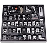 Decdeal 42 Pcs Sewing Machine Presser Feet Set, Professional Sewing Crafting Presser Foot Feet for Janome Brother Singer…