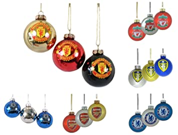 Newcastle United Baubles. Pack Of 3 Christmas Tree Decorations NUFC