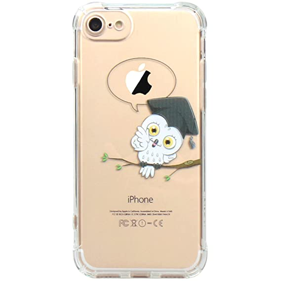 0003dc9c6f40 Image Unavailable. Image not available for. Color: JAHOLAN iPhone 7 Case,  iPhone 8 Case Amusing Whimsical Design Clear Bumper TPU Soft Case