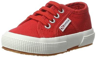 Superga Unisex-Kinder 2750 JCOT Classic Low-Top, Rot (Red-White), 29 EU