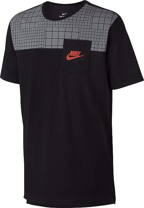 huge discount 27536 f2844 Nike M Nsw Tee Drptl Av15 Pkt Prnt T-Shirt, Herren, kurzärmlig S