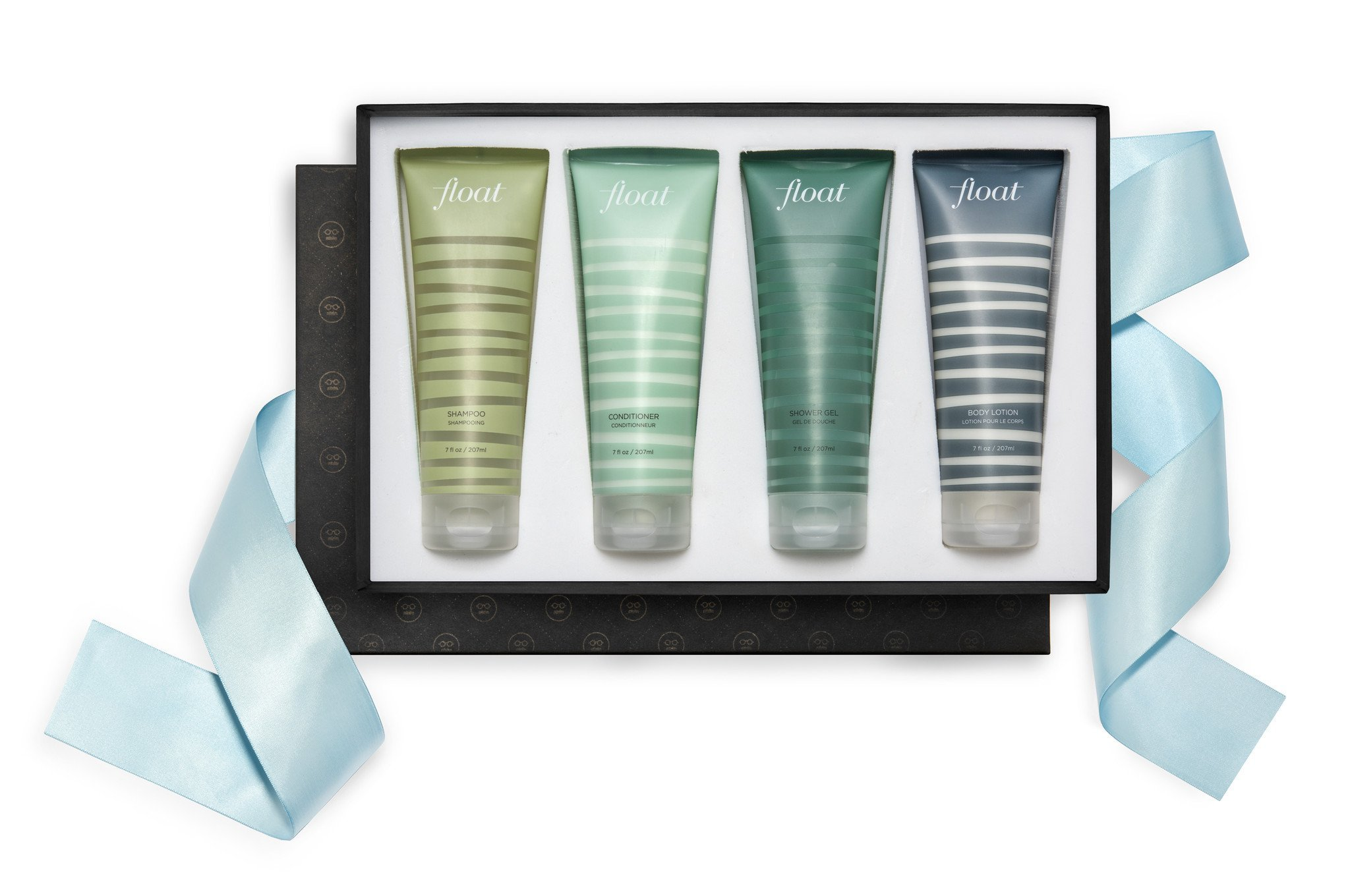 William Roam FLOAT Hair & Body Gift Set - Vegan, Cruelty-free, 4pc Gift Set, Includes FLOAT Body Lotion, Shower Gel, Shampoo, Conditioner, 7oz by William Roam